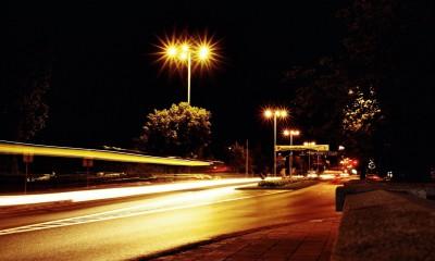 005 Plac Rapackiego nocą