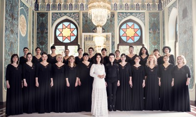 Katie Melua and the Gori Operatic Choir shot in Georgia for BMG by Pip