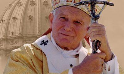 Jan Paweł II na tle Bazyliki św. Piotra