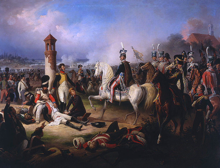 Death_of_Cyprian_Godebski_at_the_Battle_of_Raszyn_1809_by_January_Suchodolski_(1855)