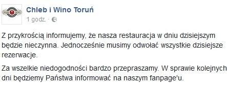 (fot.facebook/Chleb iWino Toruń)