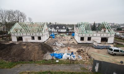 Budowa dwóch domów dziecka w Chełmnie (fot. Łukasz Piecyk/materiały prasowe Urzędu Marszałkowskiego)