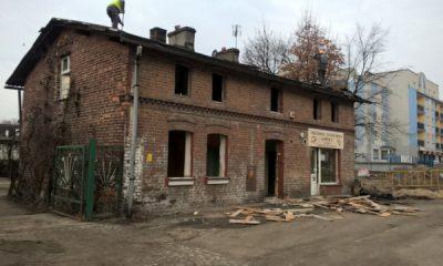 Rozbiórka piekarni przy Szosie Chełmińskiej (fot. torun.pl)