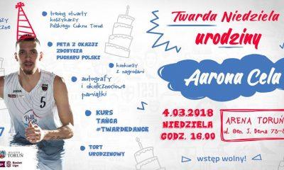 """""""Twarda Niedziela"""" urodziny Aarona Cela w Arenie Toruń (fot. wydarzenie na Facebooku)"""