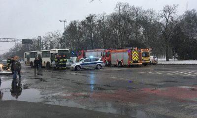 Wypadek w okolicach Placu Rapackiego (fot. M.Skoczylas/Facebook)