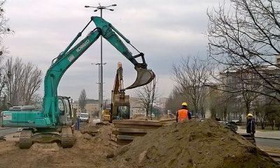 Trwa budowa kolektora i przewiązki (fot. torun.pl)