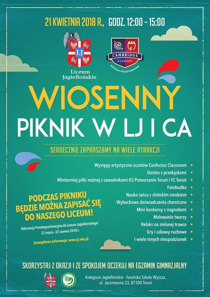 Zapraszamy na rodzinny piknik Kolegium Jagiellońskiego (fot. materiały prasowe organizatora)