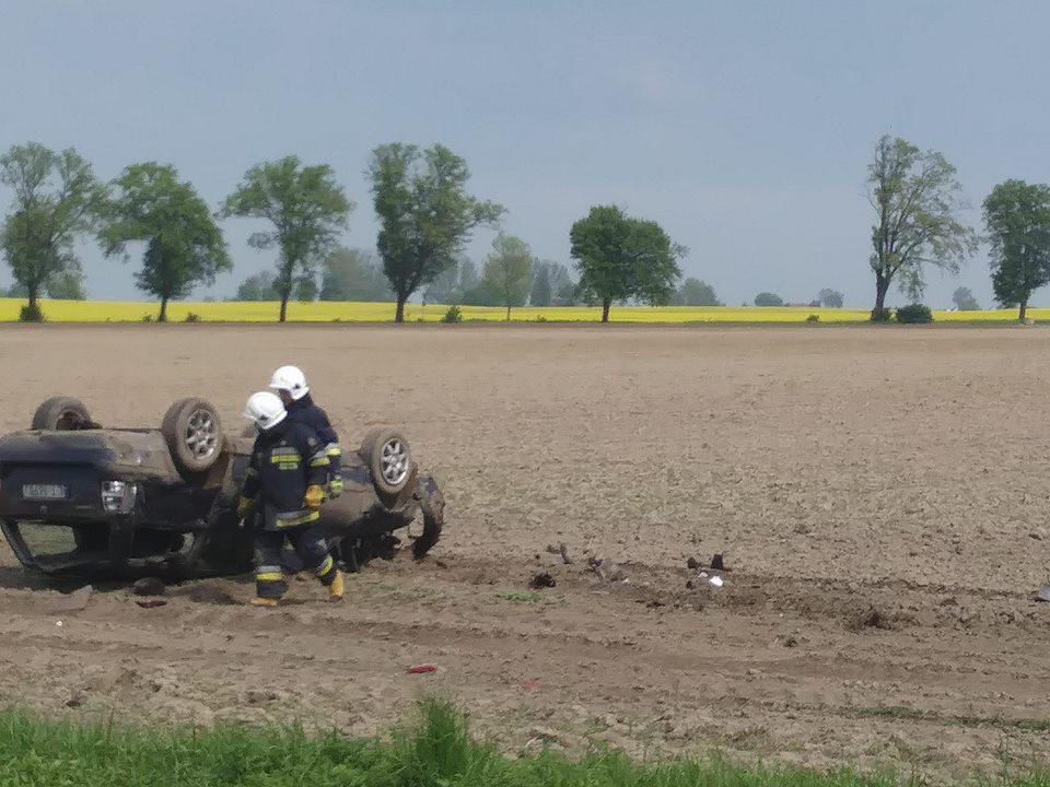 Wypadek na drodze krajowej nr 91 (fot. Marcin Lewicki)