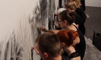 działania rysunkowe w ramach Ogólnopolskiej Wystawy Rysunku Studenckiego, 2014