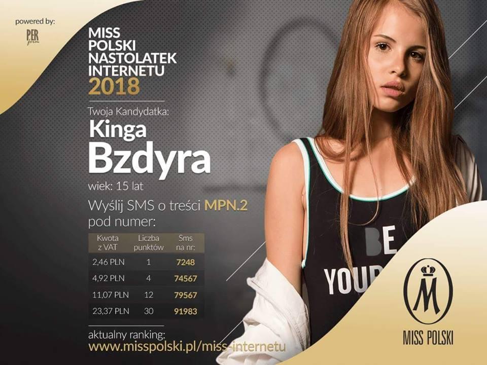 Kinga Bzdyra - torunianka walczy oMiss Polski Nastolatek (fot.nadesłane)