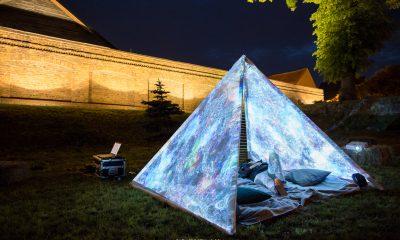 """""""Piramida czasu"""". Instalacja stanęła w mieście podczas I edycji 9HF"""