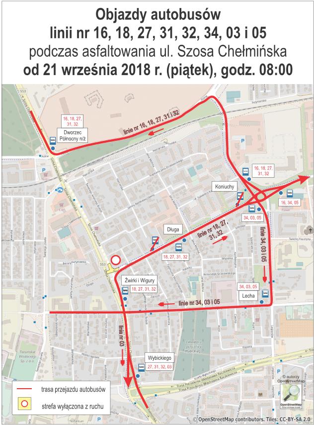 2018-09-21 - asfaltowanie Szosy Chełmińskiej