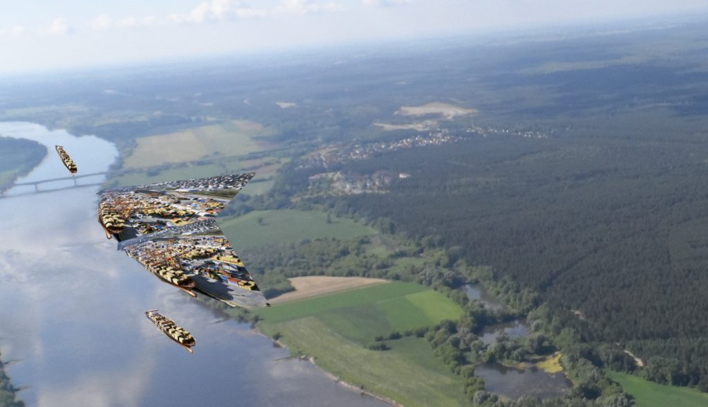Wizualizacja portu w Czerniewicach (fot. Krzysztof Dominikowski)