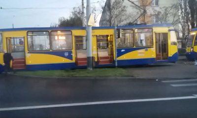 wykolejony tramwaj toruń