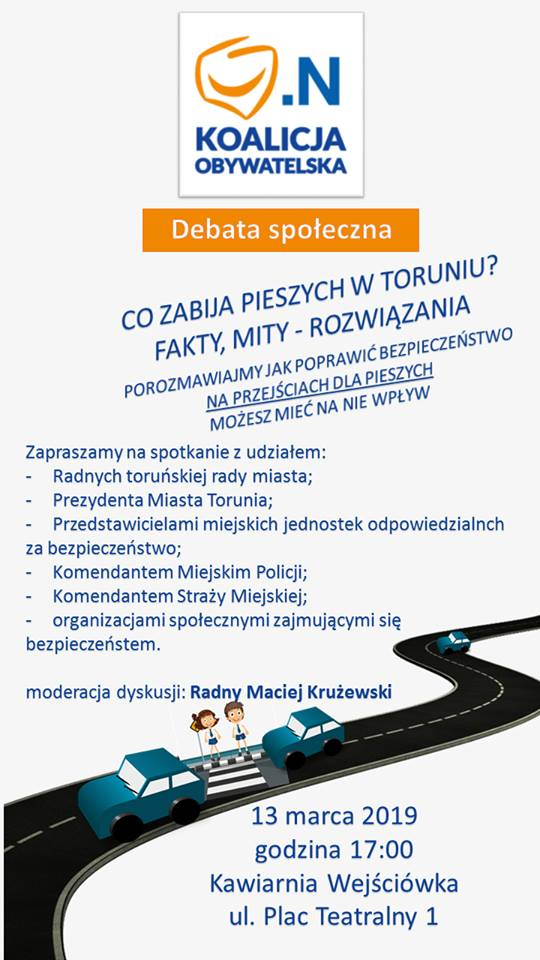 Debata - plakat