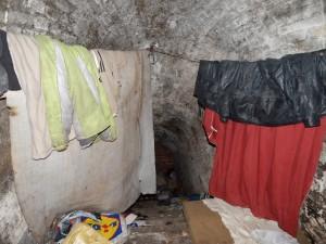 Wnętrze schronu szyjowego Fortu VII